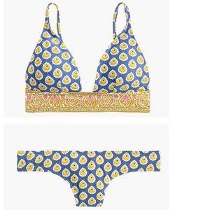 """""""Peri mustard and braga"""" bikini top & bottom"""